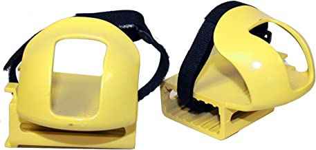 Kettler Kettrike Bicycle Toe Clips, Bike Pedal Straps for Trikes and Bikes, Yellow