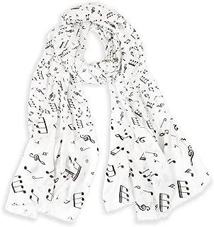 Women's Soft Musical Notes Lightweight Fashion Scarf/Shawl