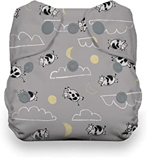 Thirsties Newborn All in One Cloth Diaper, Snap Closure, Over The Moon
