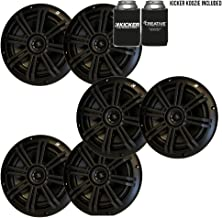 """KICKER Black OEM Replacement Marine 6.5"""" 4 Ohm Coaxial Speaker Bundle - 6 Speakers"""