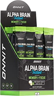 ONNIT Alpha Brain Instant - Coconut Lime Flavor - Nootropic Brain Booster Memory Supplement - Brain Support for Focus, Ene...
