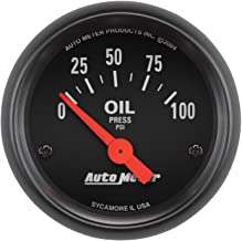 "AUTO METER 2634 Z-Series Electric Oil Pressure Gauge, 2-1/16"" (52.4mm)"