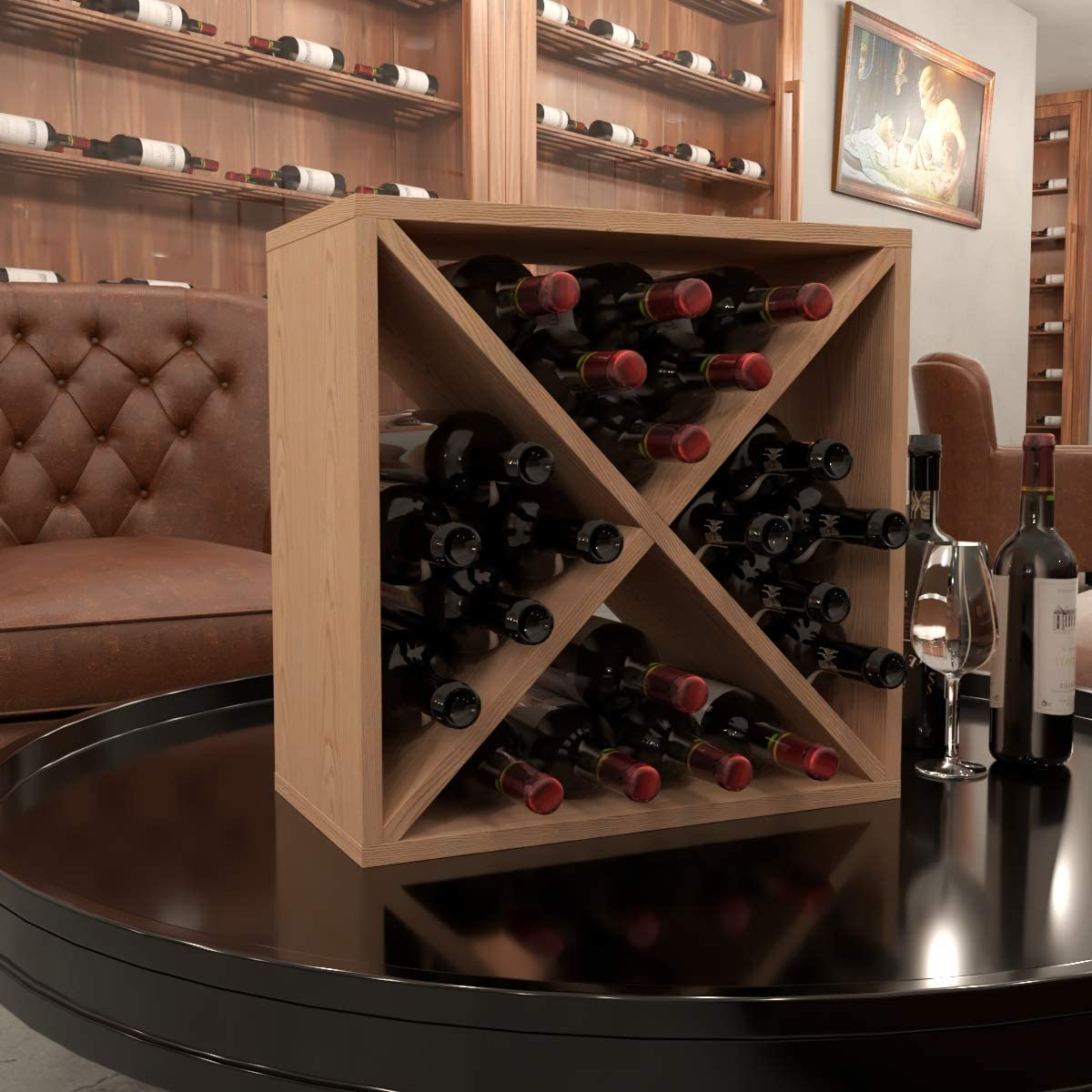 Nature 24 Bottle 25% Special Campaign OFF Modular Wine Stackable Rack Storage Cube