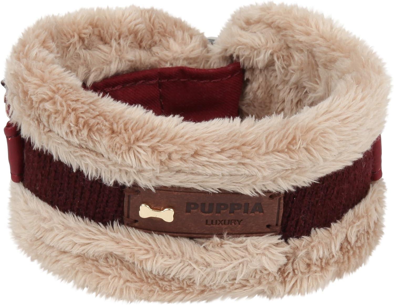 Puppia Authentic Zippy Winter Neck Guard Collars, Medium, Wine