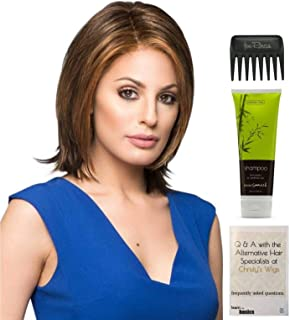 Bundle - 4 items: Play it Straight Wig by Raquel Welch, Christy's Wigs Q & A Booklet, BeautiMark Synthetic Shampoo & Wide Tooth Comb - R10