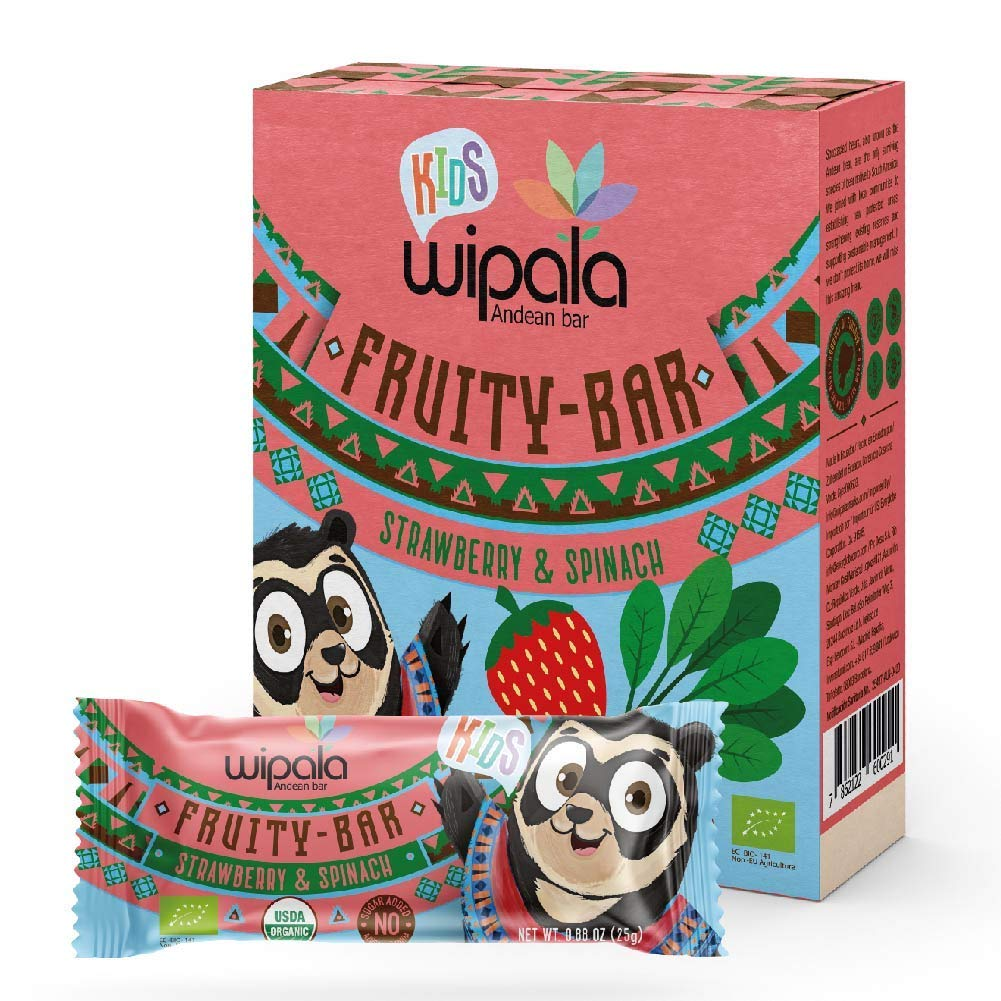Wipala KIDS Fruity Bars Washington Now on sale Mall USDA Healthy and Strawberry Spi Organic