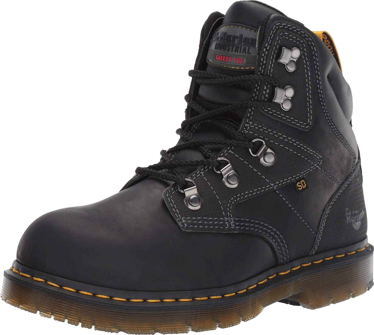 Dr. Martens Unisex Earlstoke Steel Free shipping on posting reviews Light Bl Genuine Boots Industry Toe
