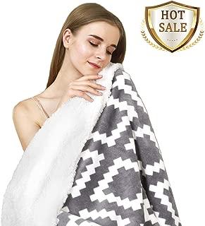 YUUHUM Ultra Soft Sherpa Fleece Blankets Twin Size Bed Plush Fuzzy Blanket (Twin 60