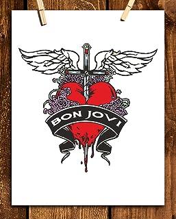 Bon Jovi Band-Logo Poster Print- 8 x 10