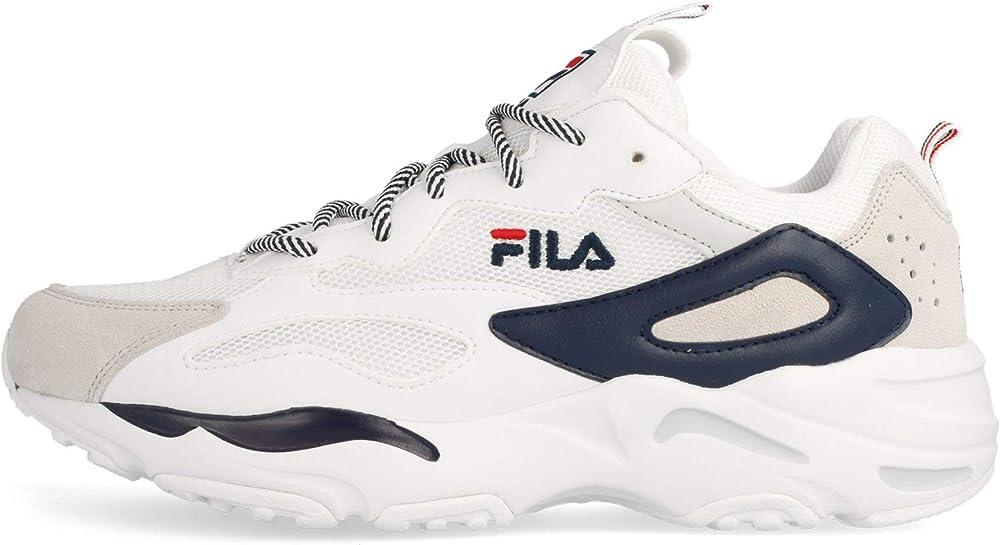 Fila ray trace,sneakers uomo,in in pelle e tela. 1010925.92E