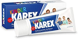 Kinder Karex Hydroxyapatite Fluoride Free Kids' Toothpaste, Baby, Toddler, Flavorless, Safe to Swallow