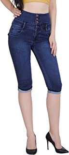 Forth Women's Stretchable Denim High Waist Capri