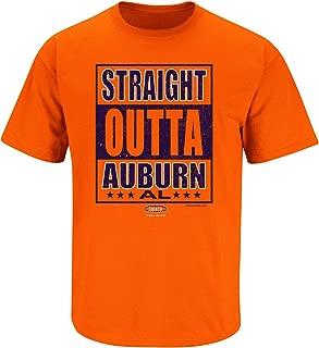 Smack Apparel Auburn Football Fans. Straight Outta Auburn Orange T-Shirt (Sm-5X)