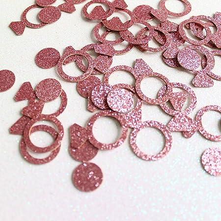 100 Pcs 3cm Glitter Rose Gold Paper Star Sparkle Table Confetti Balloons Decor