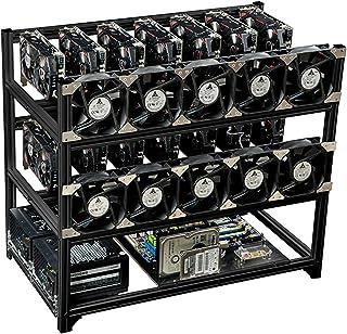 14 GPU Mining Case Rig Aluminium Staplable Preasembled Open AirFrame för EThereum (ETH) / etc/Zcash/Monero/BTC Easy Mounti...