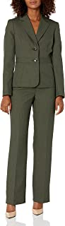Le Suit Women's Novelty 2 Button Jacket with Waistband & Kate Pant