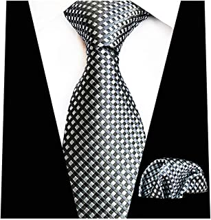 Mens Gold Paisley Silk Suit Tie Necktie & Handkerchief Pocket Square Set