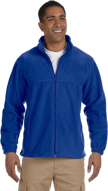 Harriton Men's 8 oz. Full-Zip Fleece, True Royal, L
