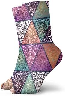 Patrón de mandalas sin costuras. Elementos decorativos vintage con calcetines largos de moda Mandala Medias más cálidas suaves 1 par