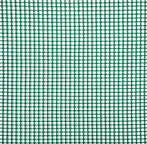 Verdemax 80781m 10mm Square Red rollo de malla–blanco