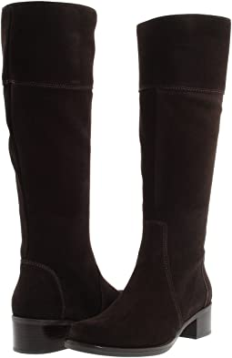 8dfbda55e782 Racine carree suede 105mm knee high boot w metal heel