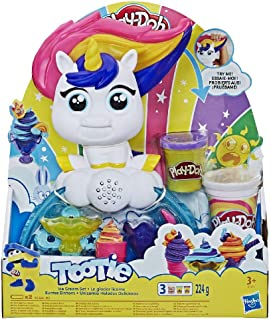 Play-Doh Tootie the Unicorn Ice Cream Set with 3 Non-Toxic Colors Featuring Play-Doh Color Swirl Compound