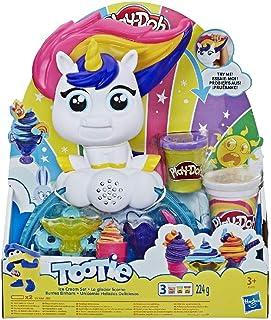 Play-Doh Tootie The Unicorn Ice Cream Set -Drollendraaiende Ijseenhoorn - Met 3 Niet-Giftige Kleuren Met Play-Doh Potten