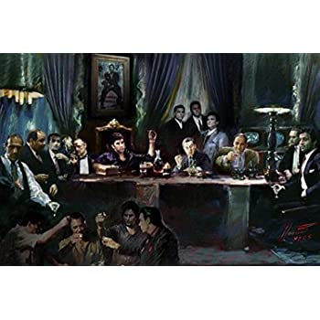 GANGSTERS size 24x36 GODFATHER GOODFELLAS SOPRANOS SCARFACE POSTER