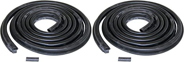 Make Auto Parts Manufacturing - Set of 2 Door Rubber Weatherstrip Seals for Dodge D100 D250 Truck 72-93 Pair -CH1390101