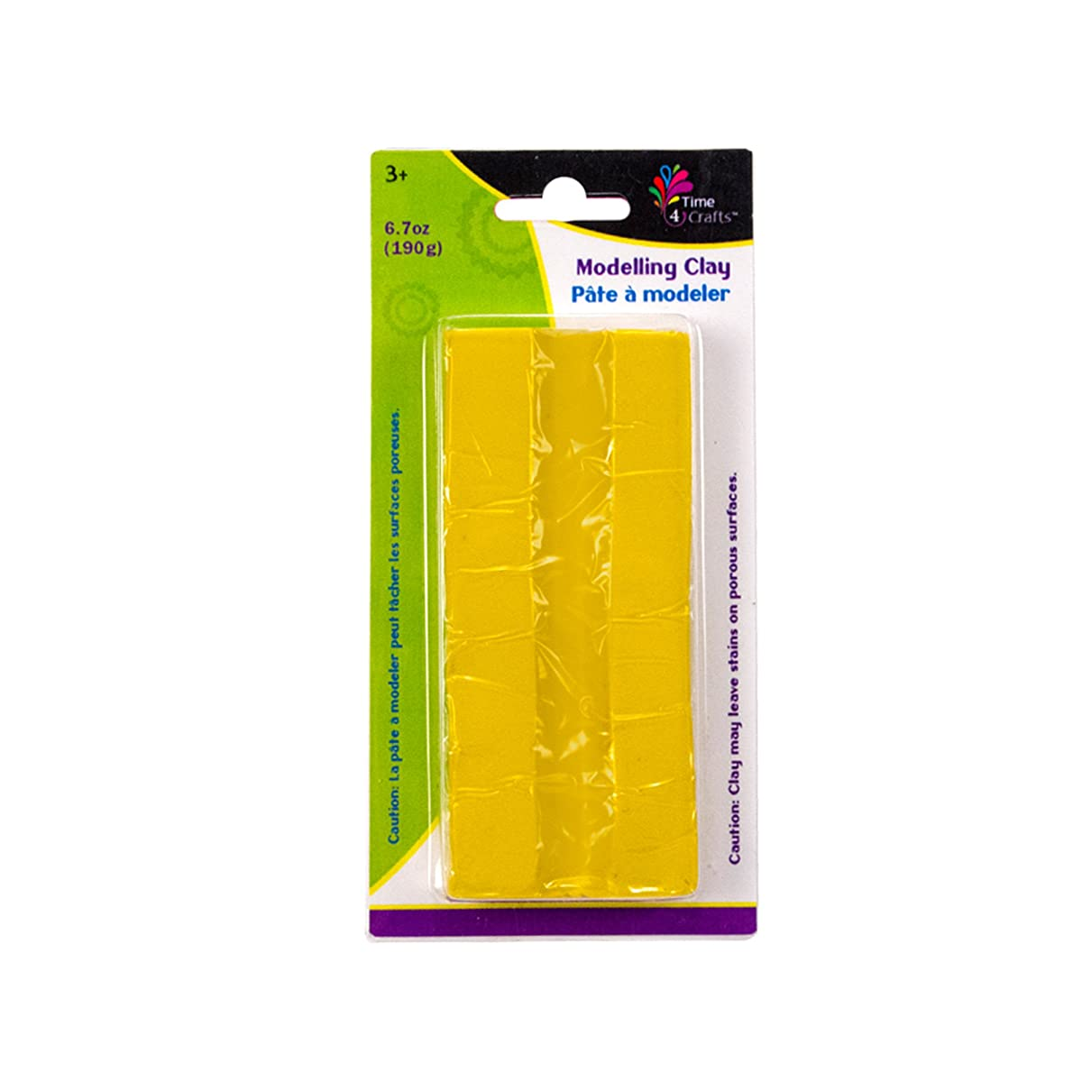 CTG Modelling Clay Pack of 12 190 grams Yellow 12 Piece