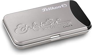 Pelikan 339622 GTP/6 Tintenpatronen Edelstein Ink im Metalletui Onyx, schwarz