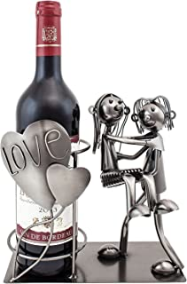 BRUBAKER Wine Bottle Holder Statue Love Couple, Carrying Wife Over The Threshold Sculptures and Figurines Decor Wine Racks and Stands Gifts Decoration