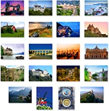 CHARMING EUROPE postcard set of 20. Post card variety pack with European travel theme and several UNESCO word heritage sites postcards. Made in USA.