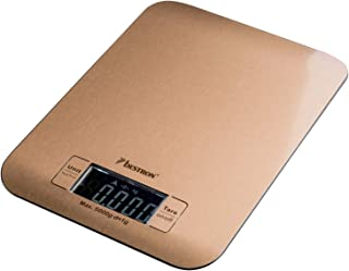 Bestron Copper Collection Báscula de Cocina Digital con Pan