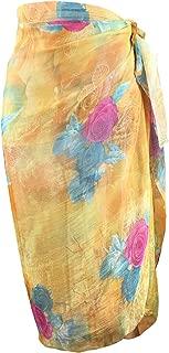 Block Garden Beachwear Bikini Swimsuit Cover up Soft Chiffon Printed Sarong Pareo
