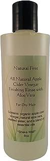 Natural First Organic Apple Cider Vinegar Finishing Rinse w/Aloe Vera for Dry Hair 8oz