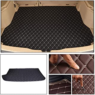 Longzhimei Leather Car Trunk Mats for Jaguar E-PACE 2018 Car Boot Liner Protector Cover Cargo Liner Set Anti-Slip Black Beige