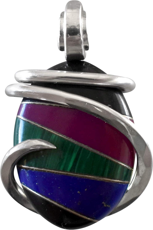 Bellas security Pendants Natural Lapis Lazuli Malachite Max 58% OFF Sugilite Black On