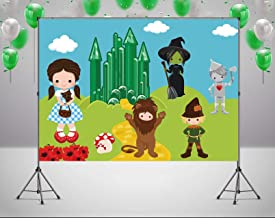 RUINI Cartoon Wizard of Oz Yellow Brick Road Theme Backdrop Cartoon Character Party Backdrop 5x3FT