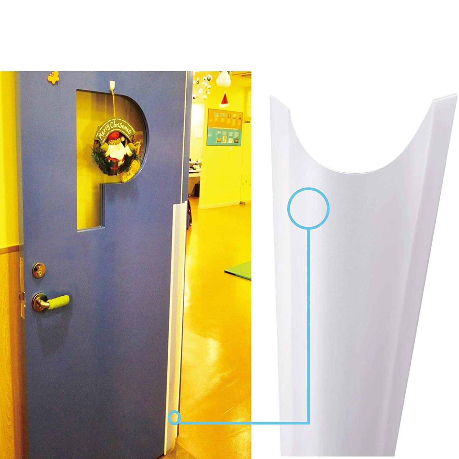 AILUOQI Finger Pinch Protector Guards for Home Door Hinges. Door Shield Guards for Baby Proofing, Kids. Roll-up Design 51.2