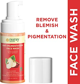 Nuray Naturals Vegan Anti Blemish and Pigmentation Removal Face Wash, 100 ml