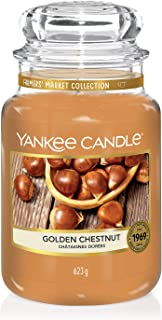Yankee Candle Large Jar Scented Candle, Golden Chestnut, Farmers' Market Collection