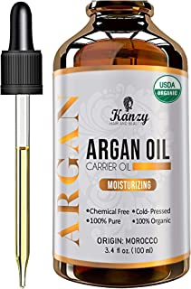 Kanzy Arganolja Bio Kallpressad 100ml Argan oil for Hair, ansikte och naglar i violett glasflaska rik på vitaminer för ant...