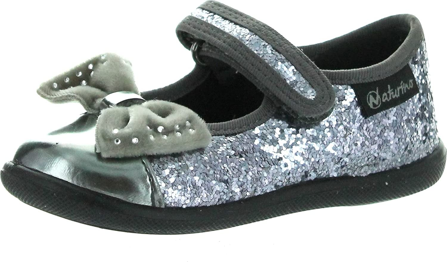 Naturino Girls 7890 Dress Casual Mary Jane Flats with Bow