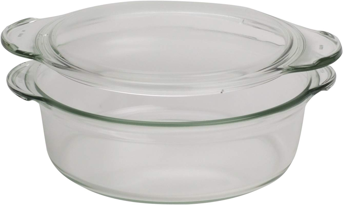 Simax Glassware 8593419414480 SIMAX Round Heatproof Dish With Lid 1 5L One Size Clear