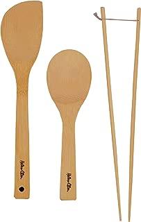 Helen's Asian Kitchen Bamboo Kitchen Tools Cooking Utensils and Stir Fry Set, 3-Piece Set