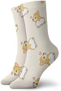 Novelty Cool Crazy Funny Dress Socks - Corgi Butt Heart Corgi Socks - Gifts for Men & Women