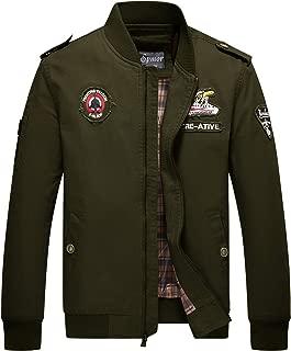 Cheerun Spmor Men's Bomber Jacket Military Jacket Men Lightweight Warm Cotton Casual Jackets Thick Stand Collar Coat