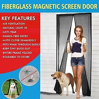 Magnetic Screen Door Fiberglass Mesh Screen Door with Magnets, Fly Mosquitos Bug Insect Screen for Sliding Glass Door French Door Patio Door, Full Frame Hook & Loop, Hands Free, Pet Friendly (34