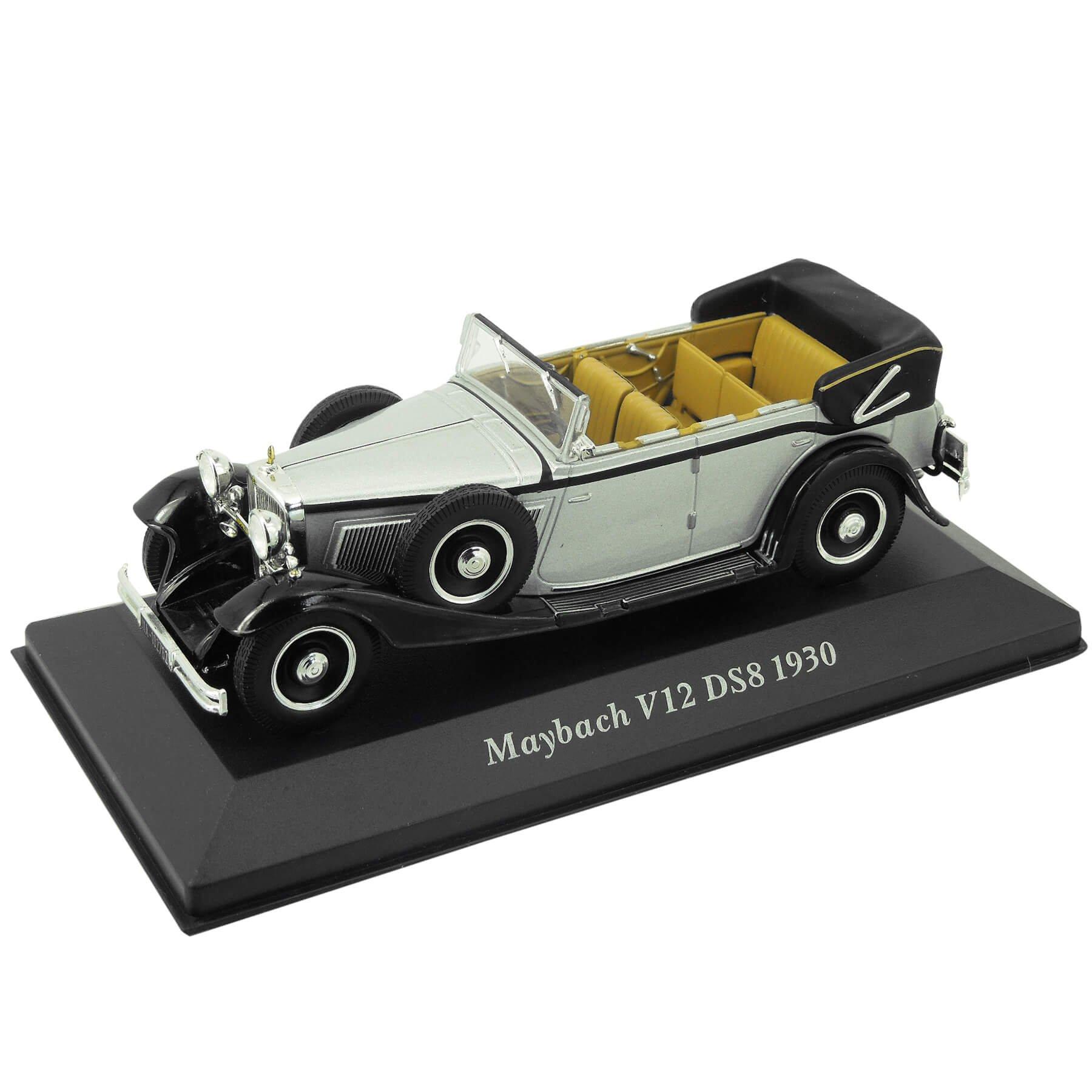 1:43 Altaya by Ixo Modelo de Coche en Miniatura Tipo para Maybach V12 DS8-1930 Plata Negro